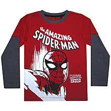 Buy John Lewis Boy Amazing Spider-Man Long Sleeved T-Shirt, Red Online at johnlewis.com