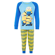 Buy Minions Repeat Print Pyjamas, Sky Blue/Multi Online at johnlewis.com