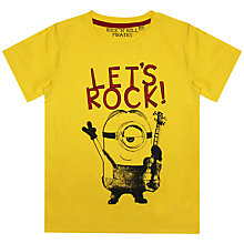 Buy Minions Let's Rock T-Shirt, Yellow Online at johnlewis.com