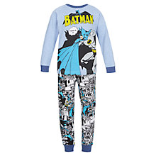 Buy John Lewis Boys' Batman Pyjamas, Sky Blue Online at johnlewis.com
