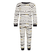 Buy John Lewis Boy Spooky Pyjamas, Black/White Online at johnlewis.com