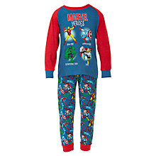 Buy Marvel Heroes Pyjamas, Blue/Red Online at johnlewis.com
