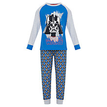 Buy John Lewis Boy Star Wars Darth Vader Pyjamas, Blue Online at johnlewis.com