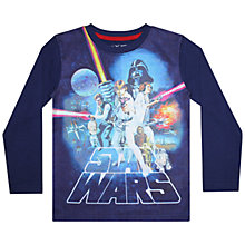 Buy Star Wars Long Sleeve T-Shirt, Navy Online at johnlewis.com