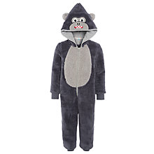 Buy John Lewis Children's Gorilla Onesie, Dark Grey Online at johnlewis.com