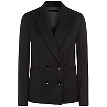 Buy Jaeger Double-Breasted Jacket, Black Online at johnlewis.com