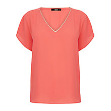 Buy Oasis Tropez Trimmed T-Shirt Online at johnlewis.com
