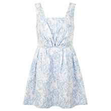 Buy Miss Selfridge Petite Jacquard Prom Dress, Pastel Blue Online at johnlewis.com