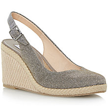Buy Dune Karley Wedge Sandal, Bronze Online at johnlewis.com