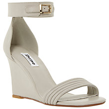 Buy Dune Karla Leather Wedges, Grey Online at johnlewis.com