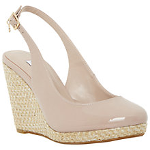 Buy Dune Cecille Espadrille Slingback Wedge Sandals, Blush Online at johnlewis.com