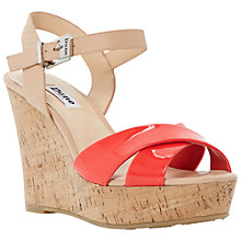 Buy Dune Kingdomm Platform Wedges, Pink Online at johnlewis.com