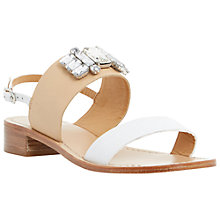 Buy Dune Joni Leather Embellished Sandals Online at johnlewis.com