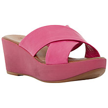 Buy Dune Kimono Leather Strap Mule Wedges Online at johnlewis.com
