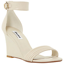 Buy Dune Karla Leather Wedges, Off White Online at johnlewis.com
