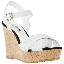 Buy Dune Kingdomm Platform Wedges, White Online at johnlewis.com
