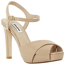 Buy Dune Marleen Platform Stiletto Sandals, Nude Online at johnlewis.com