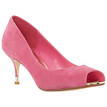 Buy Dune Denise Peep Toe Stiletto Court Shoes, Pink Suede Online at johnlewis.com