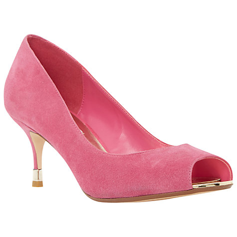 buy dune peep toe stiletto court shoes pink suede