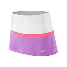Buy Nike Court Tennis Skirt, White/Fuchsia Glow Online at johnlewis.com