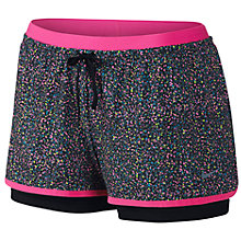 Buy Nike Full Flex 2-in-1 Splatter Spot Running Shorts, Black/Pink Online at johnlewis.com