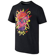 Buy Nike Boys' Skull Print T-Shirt, Black Online at johnlewis.com