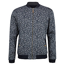 Buy Ted Baker Boosun Reversible Printed Bomber Jacket, Navy Online at johnlewis.com