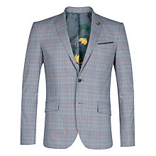 Buy Ted Baker Havaen Check Suit Jacket, Blue Online at johnlewis.com