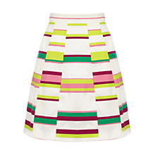 Buy Karen Millen Bold Stripe Skirt, Multi Online at johnlewis.com