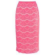 Buy Karen Millen Printed Pleat Skirt, Pale Pink Online at johnlewis.com