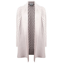 Buy Pure Collection Luxury Cable Cardigan, Oyster Online at johnlewis.com