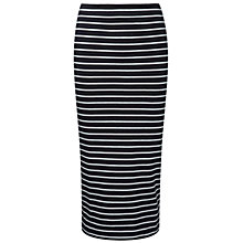 Buy Pure Collection Jersey Tube Skirt, Stripe Online at johnlewis.com
