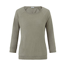 Buy Jigsaw Linen Raglan Top, Light Khaki Online at johnlewis.com