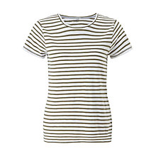Buy Jigsaw Slub Stripe T-Shirt Online at johnlewis.com
