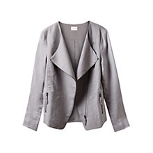 Buy East X Dye Linen Biker Jacket, Smoke Online at johnlewis.com