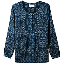 Buy East Print Blouse, Indigo Online at johnlewis.com