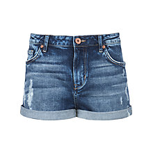 Buy Ted Baker Abrasion Denim Shorts, Mid Wash Online at johnlewis.com