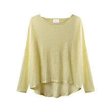 Buy East Linen Oversized Top, Light Yellow Online at johnlewis.com