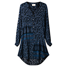 Buy East Virginia Silk Dress, Indigo Online at johnlewis.com