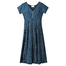 Buy East Print Dress, Indigo Online at johnlewis.com