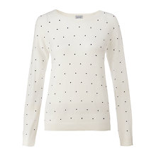 Buy Jigsaw Cotton Pin Dot Jumper Online at johnlewis.com