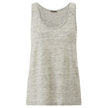 Buy Jigsaw Linen Jersey Tank Top, Grey Melange Online at johnlewis.com
