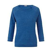 Buy Jigsaw Linen Raglan Sleeve Top, Blue Online at johnlewis.com