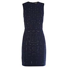 Buy Warehouse Hot Fix Shift Dress, Midnight Online at johnlewis.com