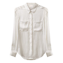 Buy East Pocket Detail T-Shirt, White Online at johnlewis.com