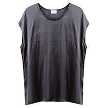 Buy East Oversized Dipped Hem Blouse, Slate Online at johnlewis.com