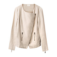 Buy East Linen Biker Jacket, Stone Online at johnlewis.com