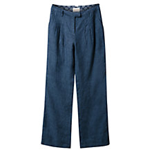 Buy East Wide Leg Cross Dye Linen Trousers Online at johnlewis.com