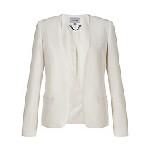 Buy Jigsaw Edge To Edge Jacket, Ivory Online at johnlewis.com