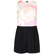 Buy Ted Baker Rose On Canvas Playsuit, Nude Pink Online at johnlewis.com
